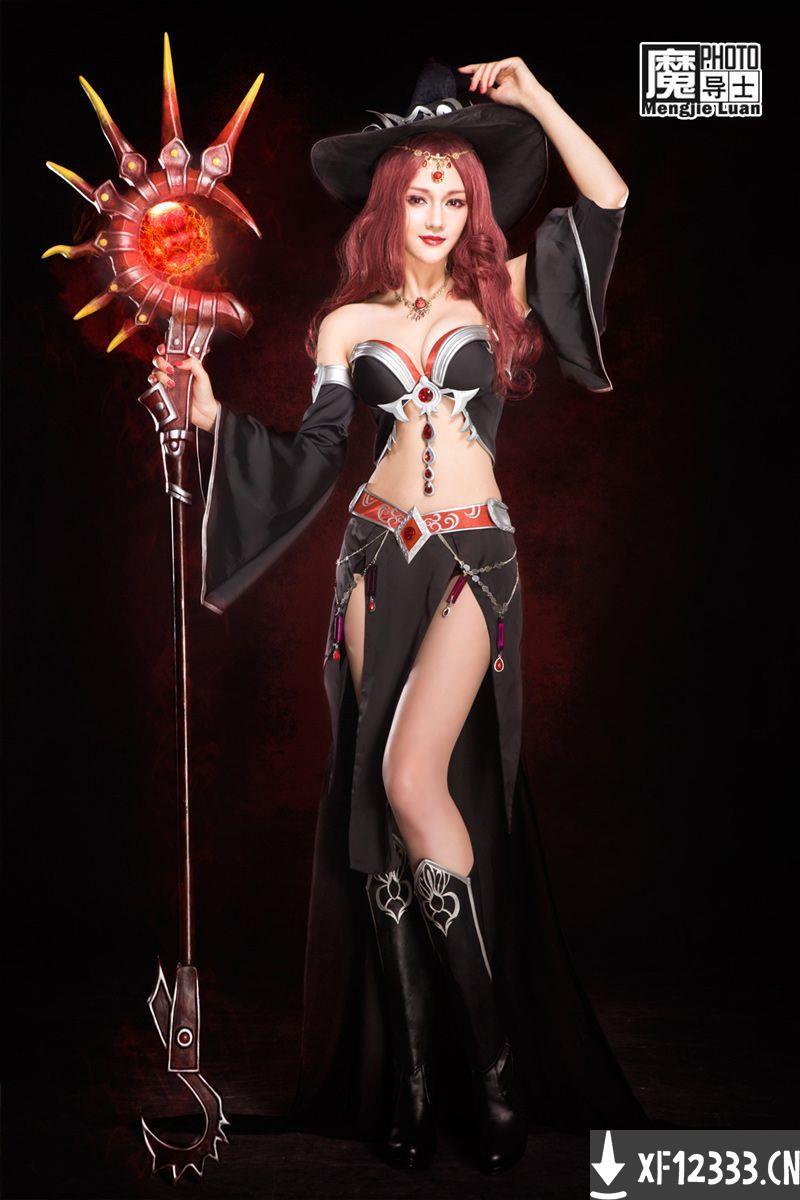 冰火破坏神惹火魔法师龙语者cosplay