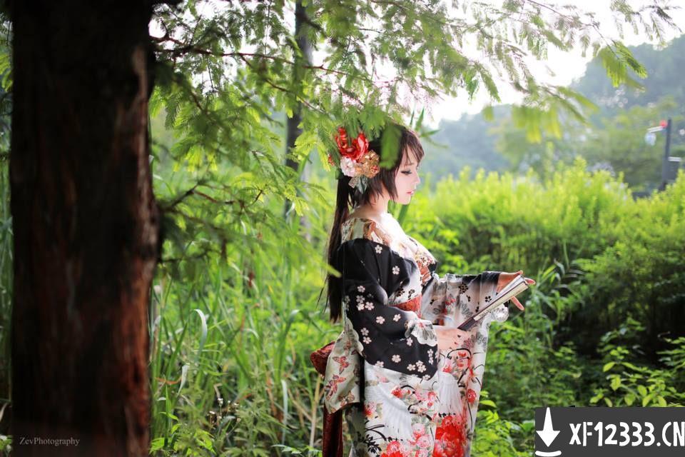 韩国cosplay新团队RZ Team和服火舞