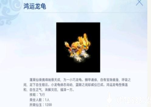 梦幻西游鸿运龙龟介绍